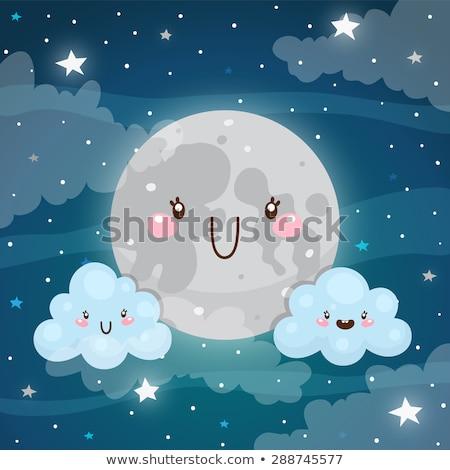 vector cute cloudy sky set stock photo © vetrakori