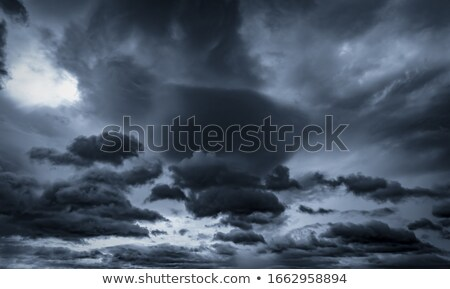 Sky background with rain and thunder Stock photo © colematt