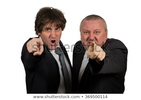 Foto stock: Boss Chief Executive Angry with Office Worker