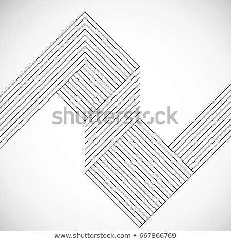 abstract lines chaos white background Foto d'archivio © SArts