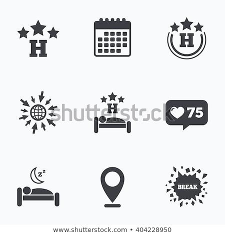 Tre star hotel appartamento segno icona Foto d'archivio © kyryloff