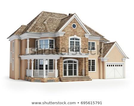 Sale house on white background. Isolated 3D illustration Stock photo © ISerg