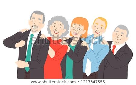Escritório dançar ilustração senior homem Foto stock © lenm