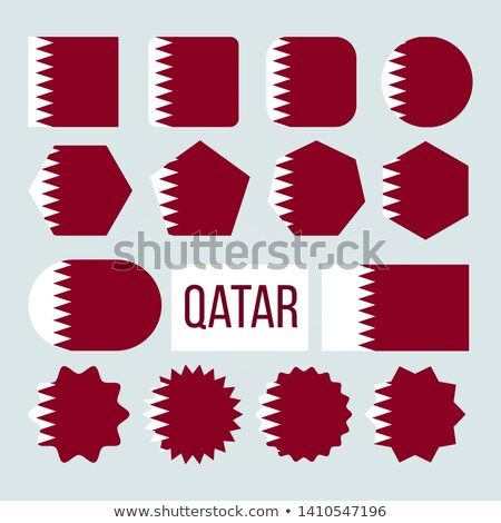 Qatar Flag Collection Figure Icons Set Vector Stock photo © pikepicture