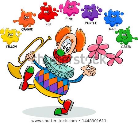 фундаментальный цветами образовательный клоуна Cartoon иллюстрация Сток-фото © izakowski