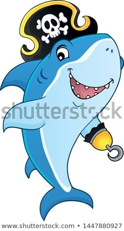 Pirata tubarão tópico imagem arte seis Foto stock © clairev
