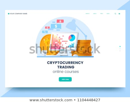 Cryptocurrency trading courses concept landing page Stock photo © RAStudio