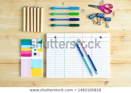 Zdjęcia stock: Górę · widoku · arkusza · papieru · linie · grupy