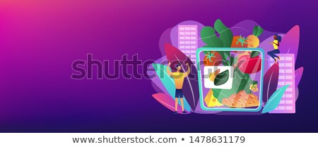 Snack pack banner vegetarisch gezond eten Stockfoto © RAStudio