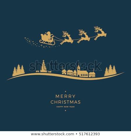 Golden silhouette of Santa Claus  stock photo © mayboro