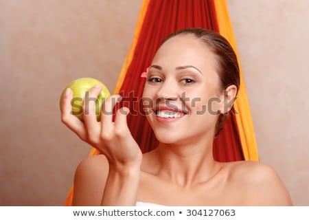 Schoonheid vrouw gezicht portret mooie spa model Stockfoto © serdechny
