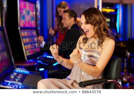 Kadın kumar kumarhane kazanan para Stok fotoğraf © robuart