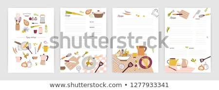 Clean Note Page, Empty Cookbook with Food Vector Stock photo © robuart