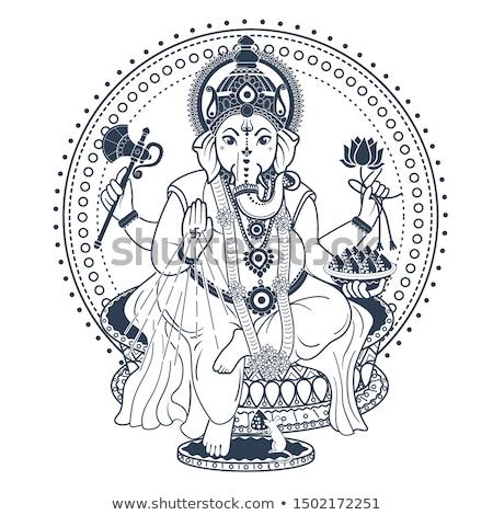 Ganesh Puja linear style icon black Stock photo © Olena