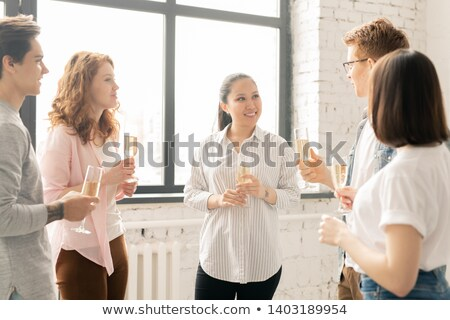 дружественный девочек флейты шампанского Сток-фото © pressmaster