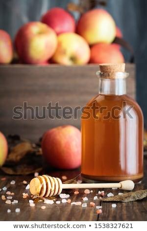Honey with Pink Himalayan salt and Apple Cider Vinegar Stock photo © StephanieFrey