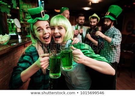 Saint barbe bière illustration argent vert Photo stock © adrenalina