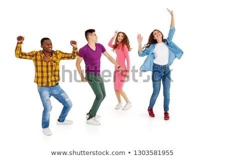 Mulheres pessoas grupo dança isolado juntos Foto stock © cienpies