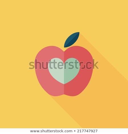 Amarelo maçã ícone sombra cor comida Foto stock © Imaagio