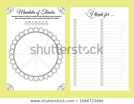 planner notebook, thank this day Stock photo © Olena