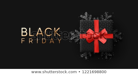 Black friday vásár címke arany keret keretek Stock fotó © orson