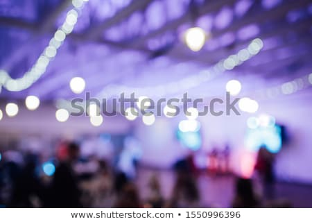 Foto d'archivio: Light Bulb Decor In Indoor Party Blurred Photo