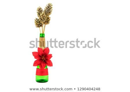 Wakacje czerwony malowany butelki kolorowy konfetti Zdjęcia stock © artjazz