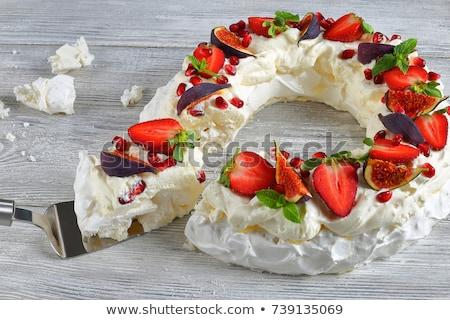 Sweet gâteau maison chocolat basilic sucre Photo stock © Peteer