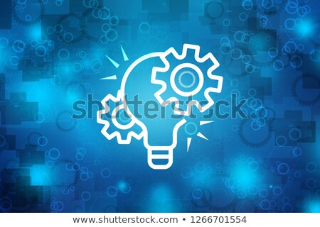 Gear Wheel Microchip Circle Icon Stock photo © Anna_leni