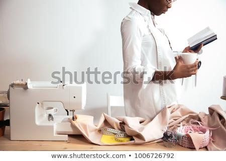 Glücklich jungen weiblichen Mode Designer Stock foto © pressmaster