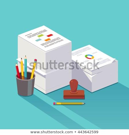 Carta fiscali vettore metafore reddito dichiarazione Foto d'archivio © RAStudio
