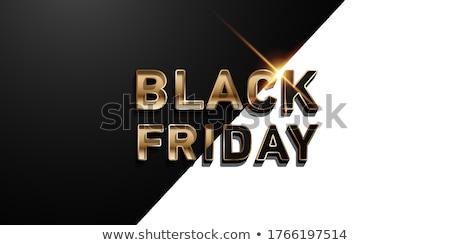 Black friday satış tanıtım etiketler büyük dükkanlar Stok fotoğraf © robuart