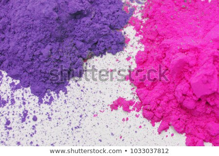 Bowl of red paint powder on white background Stock photo © bluering