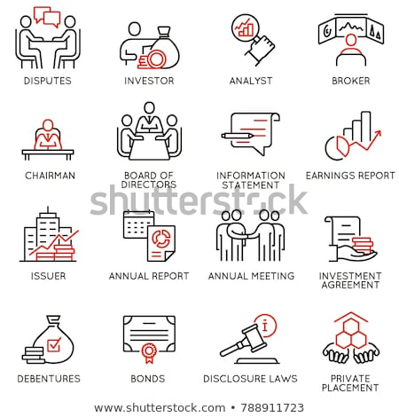 Collaboration Work Onboarding Elements Icons Set Vector Stock photo © pikepicture