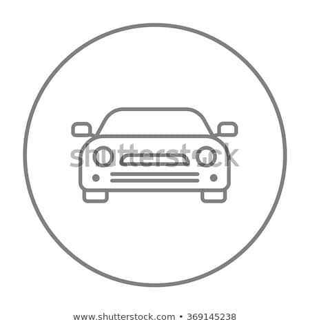 bumper car icon vector outline illustration Stock photo © pikepicture
