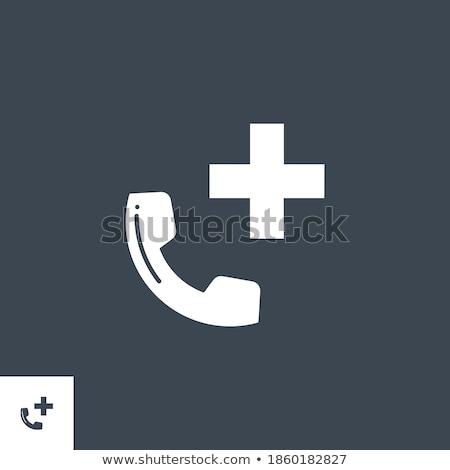 Urgence téléphone vecteur icône isolé blanche Photo stock © smoki