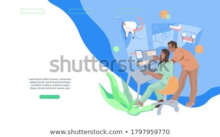 Orthodontische overleg dienst banner vector tand Stockfoto © pikepicture