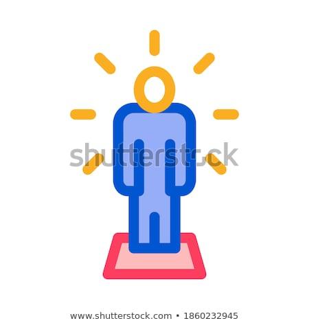 Emberi csillog ikon vektor skicc illusztráció Stock fotó © pikepicture