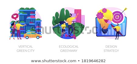 Ecological greenway abstract concept vector illustration. Stock photo © RAStudio