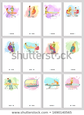 Pedicure massage lichaam ingesteld Stockfoto © robuart