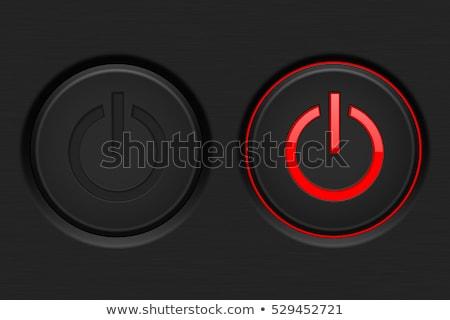 красный власти переключатель знак 3D 3d визуализации Сток-фото © djmilic
