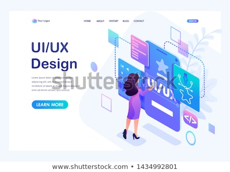 UX design abstract concept vector illustrations. Stock photo © RAStudio