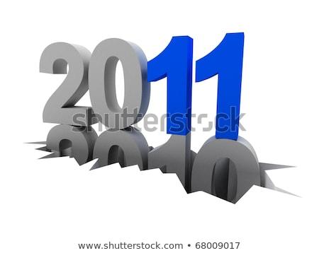 Agujero año nuevo 2010 Navidad tiempo diseno Foto stock © orson