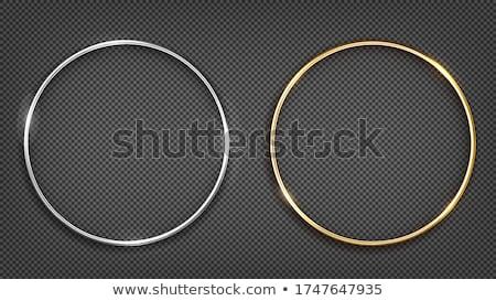 Boda oro plata anillos establecer Foto stock © sahua