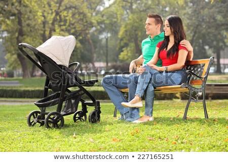 матери · ребенка · отец · сидеть · трава · природы - Сток-фото © Paha_L