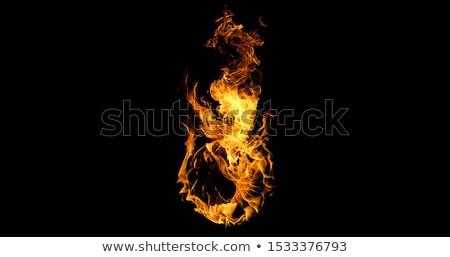Bola de fuego negro fuego resumen naturaleza luz Foto stock © cookelma