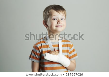 Boy with broken arm Stock photo © simply