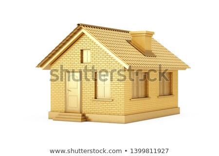 Goud huis business weg home financiële Stockfoto © pkdinkar