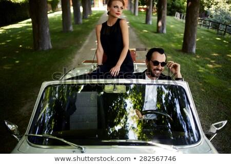 Chique paar meisje bruiloft liefde man Stockfoto © photography33