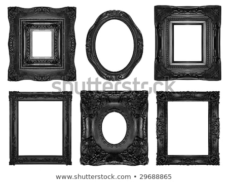 Retro Revival Old Ellipse Black Frame Stock photo © adamr